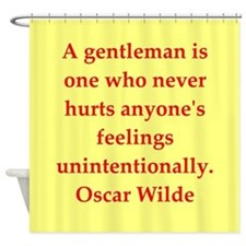 wilde2.png Shower Curtain