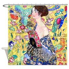 Klimt - Lady w/Fan Shower Curtain