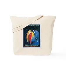 Vintage Carnival Print Tote Bag