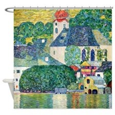 Klimt - Unterach Church Shower Curtain