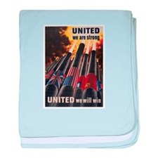 United We Will Win baby blanket