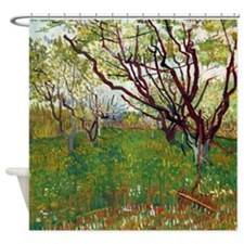 Van Gogh Cherry Tree Shower Curtain