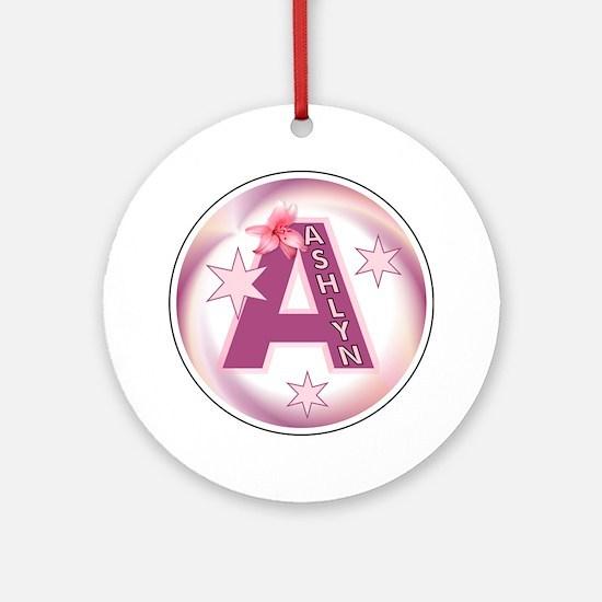 Ashlyn Star Initial Ornament (Round)