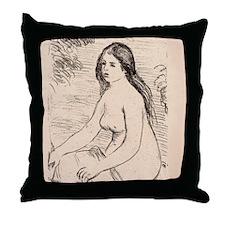 Renoir Femme nue assise-Litho Throw Pillow
