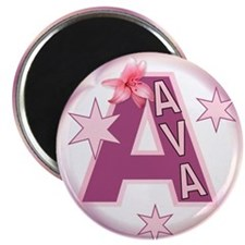 Ava 2.5 inch Star Initial Magnet