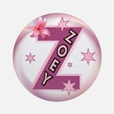 Zoey Star Initial Ornament (Round)