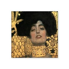 "Gustav Klimt Judith (Detail) Square Sticker 3"" x 3"