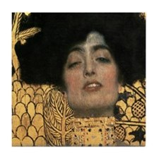Gustav Klimt Judith (Detail) Tile Coaster