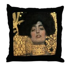 Gustav Klimt Judith (Detail) Throw Pillow