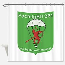 Fallschirmjagerbataillon 261 Shower Curtain