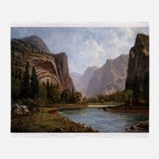 Bierstadt Gates Of Yosemite Throw Blanket