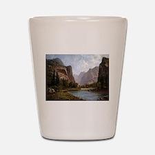 Bierstadt Gates Of Yosemite Shot Glass