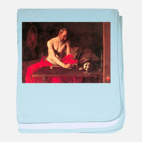 Caravaggio St Jerome baby blanket