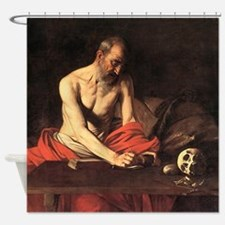 Caravaggio St Jerome Shower Curtain