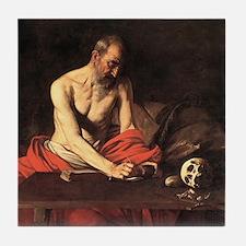 Caravaggio St Jerome Tile Coaster