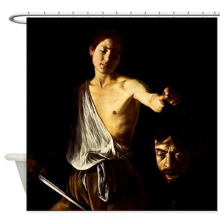 Caravaggio David Goliath Shower Curtain