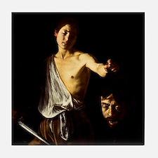 Caravaggio David Goliath Tile Coaster