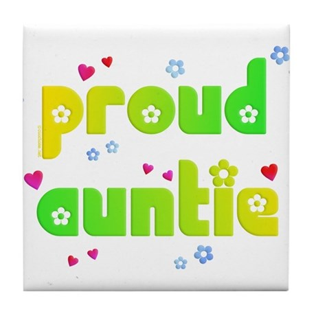Proud Auntie Tile Coaster