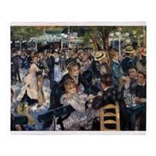 Renoir Le Moulin de la Galette Throw Blanket