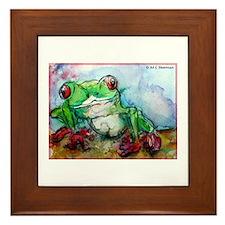 Tree Frog, rainforest, art! Framed Tile