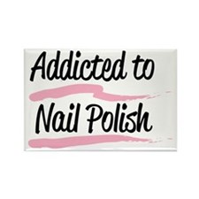 Addicted to Nail Polish Rectangle Magnet