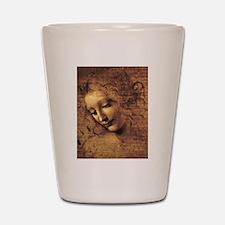 Leonardo Da Vinci La Scapigliata Shot Glass