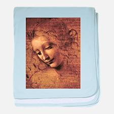 Leonardo Da Vinci La Scapigliata baby blanket