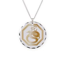 Gold tone Year of the Snake Necklace