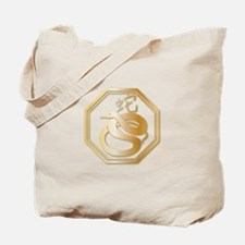 Gold tone Year of the Snake Tote Bag
