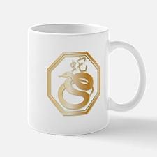 Gold tone Year of the Snake Mug