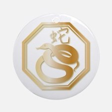 Gold tone Year of the Snake Ornament (Round)