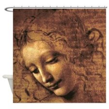 Leonardo Da Vinci La Scapigliata Shower Curtain