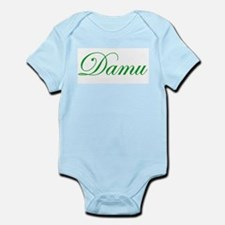 Cursive Green Damu  Infant Creeper