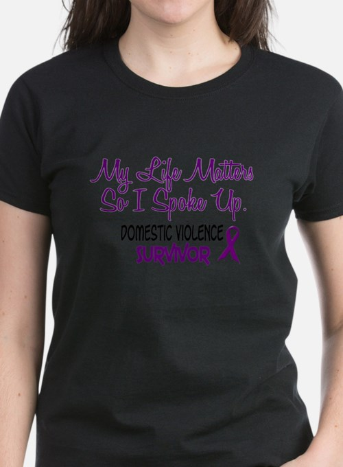 Cute Support domestic violence awareness Tee