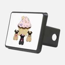 Cupcake Pug Dogs Hitch Cover