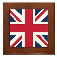 Classic Union Jack Framed Tile