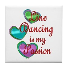 Line Dancing Passion Tile Coaster