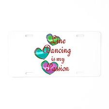 Line Dancing Passion Aluminum License Plate