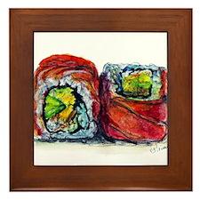 Sushi Couple 2 Framed Tile