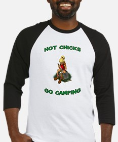 HOT CHICKS GO CAMPING Baseball Jersey