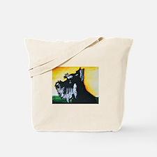 Abstract Mini Schnauzer Tote Bag