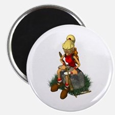 HOT CHICKS GO CAMPING Magnets