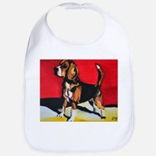Abstract Beagle Hound Bib