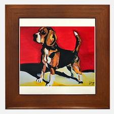 Abstract Beagle Hound Framed Tile