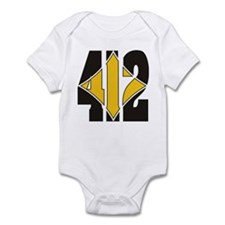412 Black/Gold-W Infant Bodysuit