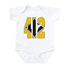412 Gold/Black-W Infant Bodysuit