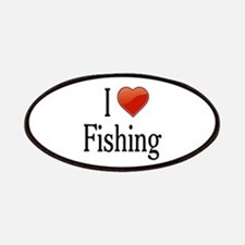 I Love Fishing Patches