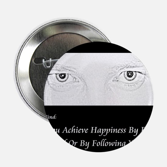 """HypnoTribe Happiness Double Bind 2.25"""" Button"""