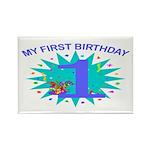1st Birthday Rectangle Magnet