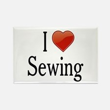 I Love Sewing Rectangle Magnet